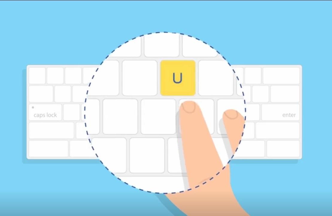 تمرین برای یادگیری تایپ ده انگشتی