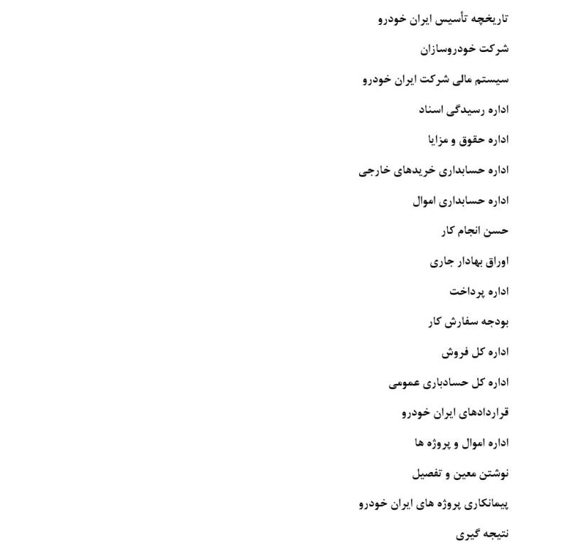 گزارش کارآموزی حسابداری در شرکت ایران خودرو
