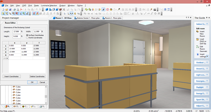 نمونه آماده طرح روشنایی داخلی یک خانه با دیالوکس Dialux